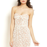 ideeli | ARYN K Lace Sweetheart Dress