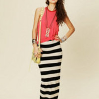 FP Beach Rugby Stripe Column Skirt at Free People Clothing Boutique