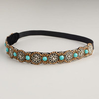 Turquoise Beaded Headband - World Market