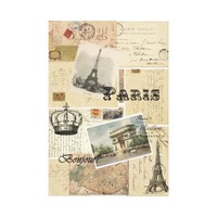 French Postcard Collage Art