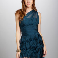 ideeli | DALIA MACPHEE Gathered Single-Shoulder Dress