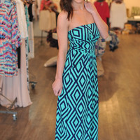 Mint/Navy Tube Dress