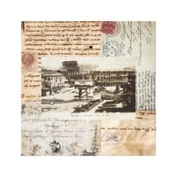 Ancient Rome Coliseum Italian Collage Art
