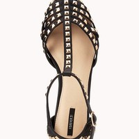 Total Stud Pointed Sandals