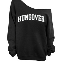 Hungover - Black Slouchy Oversized Sweatshirt
