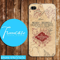 Harry Potter Marauders Map case for iphone 4 case,iphone 4s case, iphone 5 case, iphone 5s case, iphone 5c case