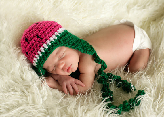 Watermelon Hat Custom Order by MySweetPotato3 on Etsy