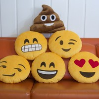 EMOJI PILLOWS! & PRODUCTION STARTS! » Throwboy Chat Pillows: Geeky throw pillows — Kickstarter
