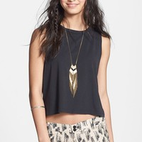 Rubbish® Cotton Muscle Tank (Juniors) | Nordstrom