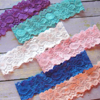 50+ Lace Colors, Lace Garter, Garter Belt, Throw Garter, Plain Garter, Wedding Garter, Garter, Custom Garter, Pink Garter, Something Blue