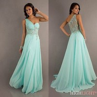 2014 Long chiffon Bridesmaid/Evening/Formal/Party Ball Gown Prom Wedding Dresses