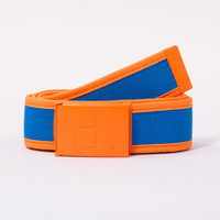 Un-Polo Two Tone Clamp Belt in Royal/Orange - BELTS - ACCESSORIES