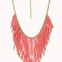 Worldly Beaded Fringe Necklace