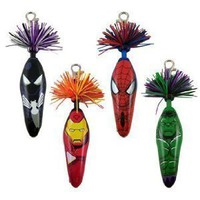 Kooky Klickers Collectible Pens - Krew Marvel Series 1 - ( Complet Set Of 4 )