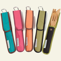 To-Go Ware RePEaT Bamboo Utensil Set with Recycled PET Carrycase - Napkins, Utensils & More - reuseit.com