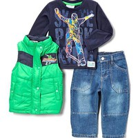 Sweet and Soft Infant Boys Skateboard 3-Piece Set - 			        	For Your Little One: Designer Pieces Shop