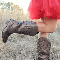 Carved With Love Boots: Dark Brown | Hope's