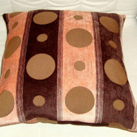 Unique dot – Velvet stripes pillow cover 18x18