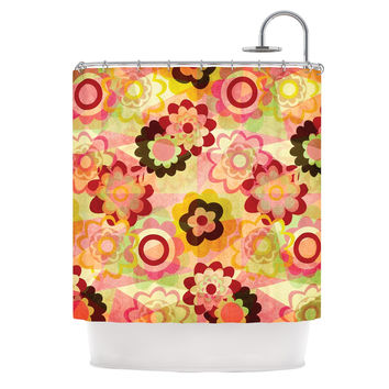 "Louise Machado ""Colorful Mix"" Red Orange Shower Curtain"