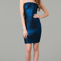 Short Strapless Bandage Dress