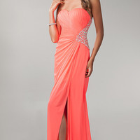 Strapless Open Back Prom Dress by Morgan