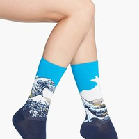 Hot Sox 'Great Wave' Crew Socks | Nordstrom