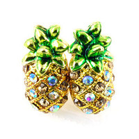 Sweetie's Jewelry Box — Golden pineapple studs