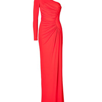 Elie Saab - Ruched Jersey One Sleeve Gown
