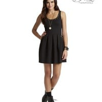 PRETTY LITTLE LIARS ARIA STUDDED PONTE DRESS