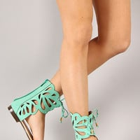 Fantacy-3 Open Toe Gladiator Flat Sandal