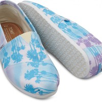 Blue Palm Trees Men's Canvas Classics