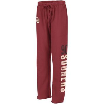 Oklahoma Sooners Ladies Cozy II Fleece Pants - Crimson