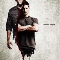 Supernatural The End Begins Jensen Ackles Jared Padalecki TV Poster Print