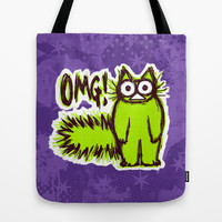 OMG CAT Tote Bag by Nekome Andon