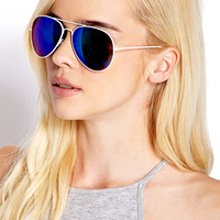 F3850 Cool Mirror Aviator Sunglasses