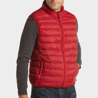 HAWKE & CO CHILI RED PACKABLE DOWN CLASSIC FIT VEST