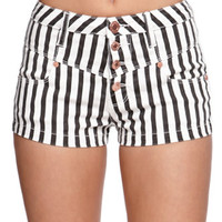 Kendall & Kylie High Rise Striped Shorts at PacSun.com