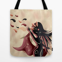 Sarah oriantal woman Tote Bag by LouJah