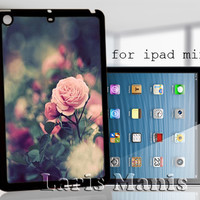 pink rose blossom - desain case for iPad mini