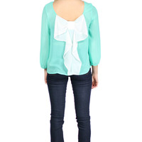 Southern Belle Blouse - Mint