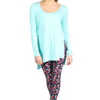 Any Day Now Tunic - Tiffany Blue