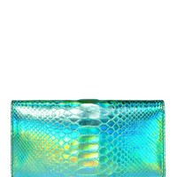 ZAGLIANI - BON BON HOLOGRAM PYTHON CLUTCH - LUISAVIAROMA - LUXURY SHOPPING WORLDWIDE SHIPPING - FLORENCE