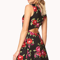 Rebel Rose Skater Dress | FOREVER21 - 2000127554
