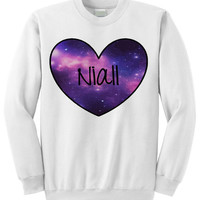 BRAND NEW - Niall Galaxy Heart Crewneck