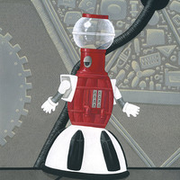 "Mystery Science Theater 3000 Tom Servo art print ""I'm Huge"""