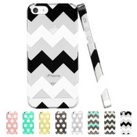 iPhone 5S Case, ESR the Beat Series Protective Case Bumper [Ultra Slim][Light Weight][Scratch-Resistant] [Perfect Fit] Hard Back Cover for iPhone 5/5s (Clear Chevron)