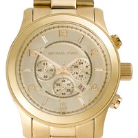 Michael Kors 'Large Runway' Gold Bracelet Watch, 46mm | Nordstrom