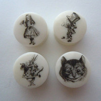 """Plugs / Gauges. Alice Characters.4g / 5mm,2g / 6mm,0g / 8mm,00g / 10mm,1/2"""" /12.5mm,9/16"""" /14mm,5/8"""" /16mm,3/4"""" /19mm,7/8"""" (22mm), 1"""" / 25mm"""