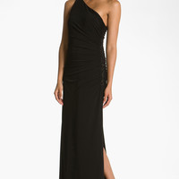 Laundry by Shelli Segal Beaded Panel One-Shoulder Jersey Gown | Nordstrom