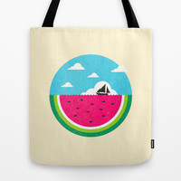 Watemelon Deep Tote Bag by Ivan Rodero